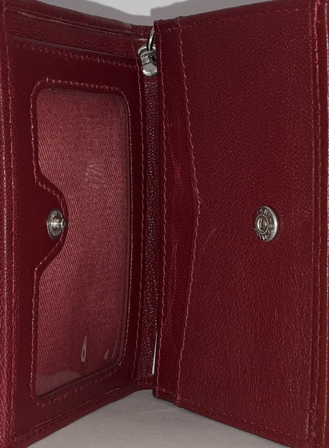 Image for the North Central College Red Leather Snap ID Holder/ wallet product
