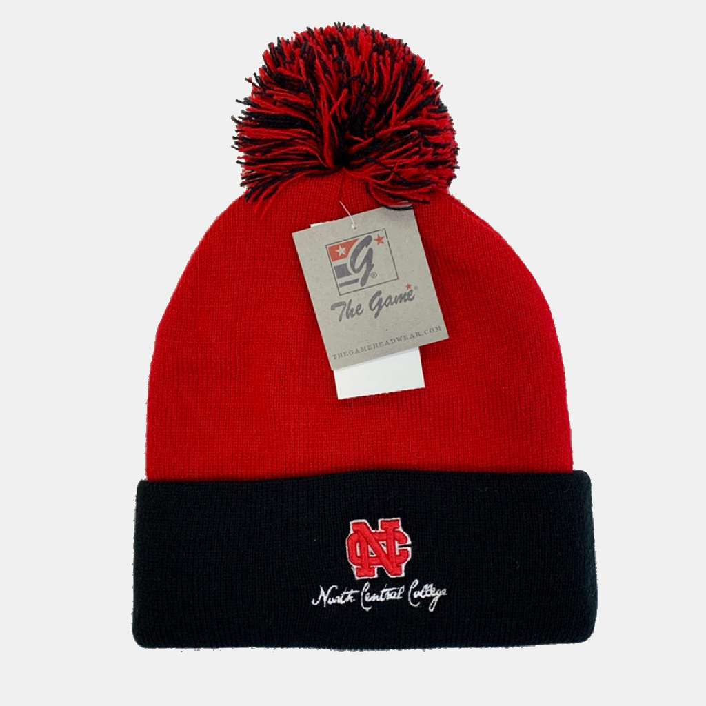 Image for the Red/Black Two-Tone Roll Up w/Pom by The Game product