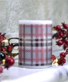 Image for the LED Lighted Flameless Plaid Design Christmas Candle product