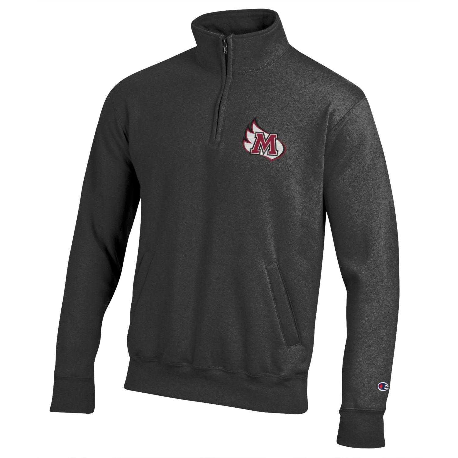 Image for the Eco Powerblend 1/4 Zip, Granite Heather product