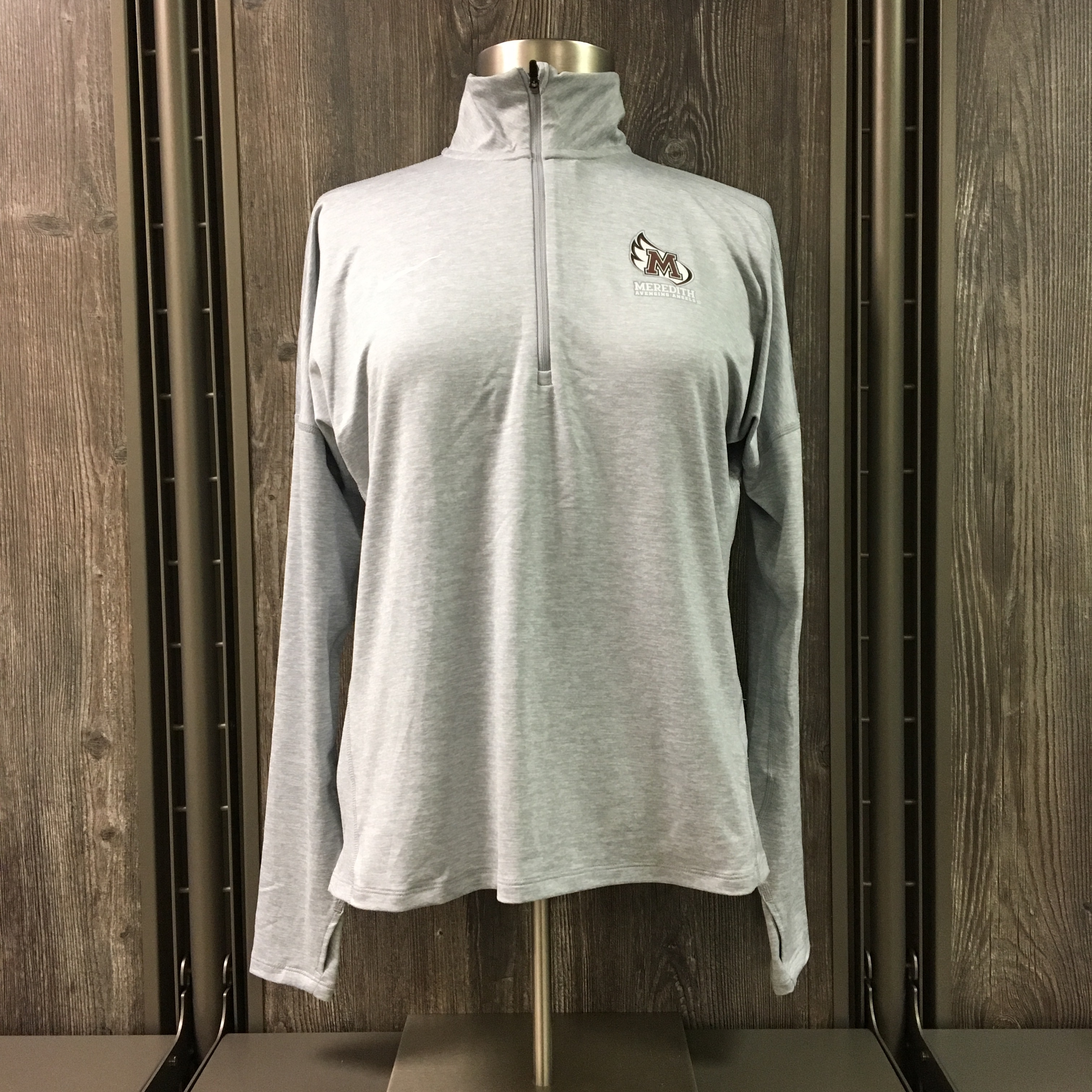 Image for the Dry Fit Heather 1/2 Zip, Grey with M-Wing product