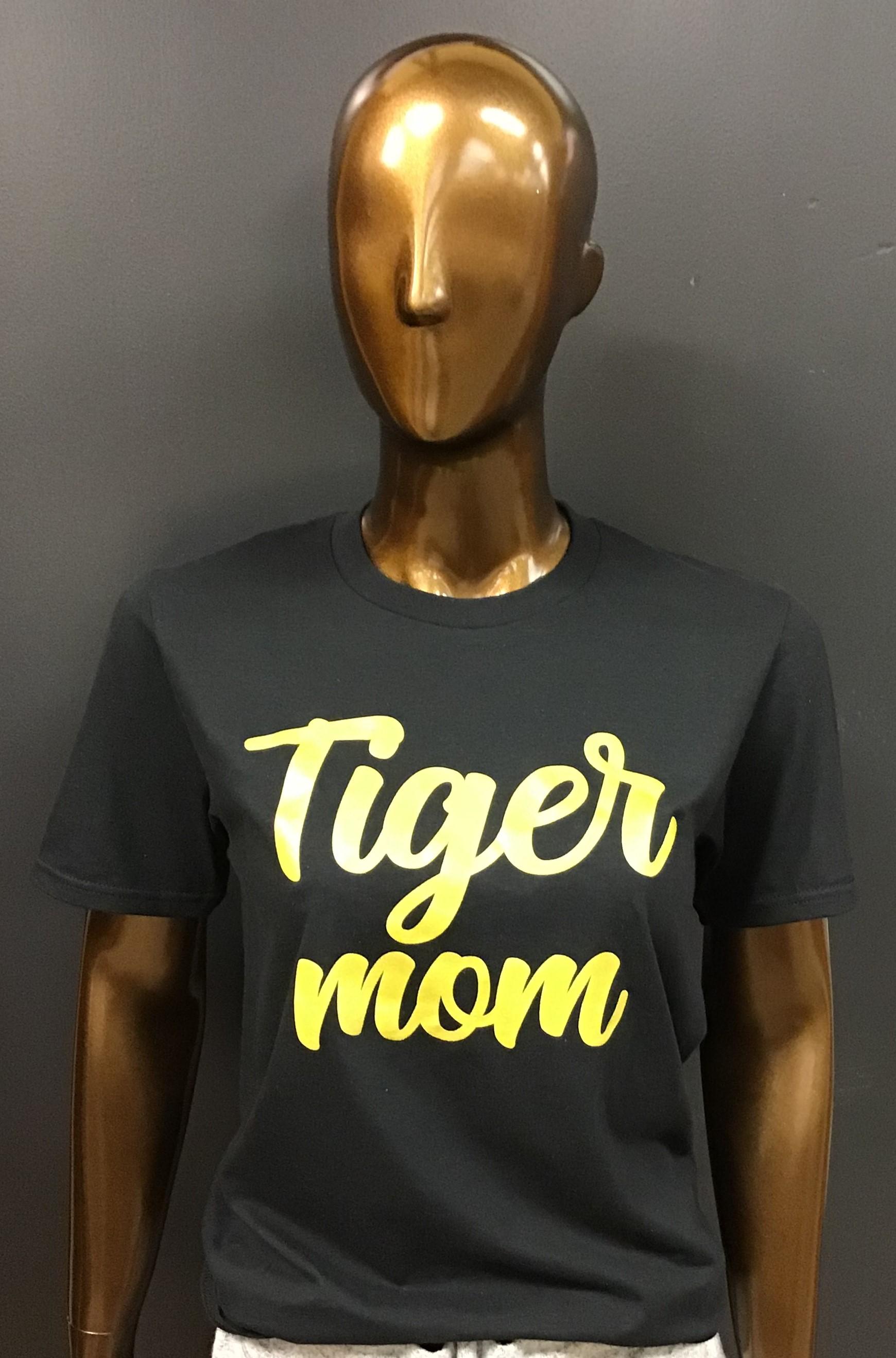 Alternative Image for the Tiger Mom/Grandma T-Shirt, Heather Graphite Anvil, Collegiate Trends product