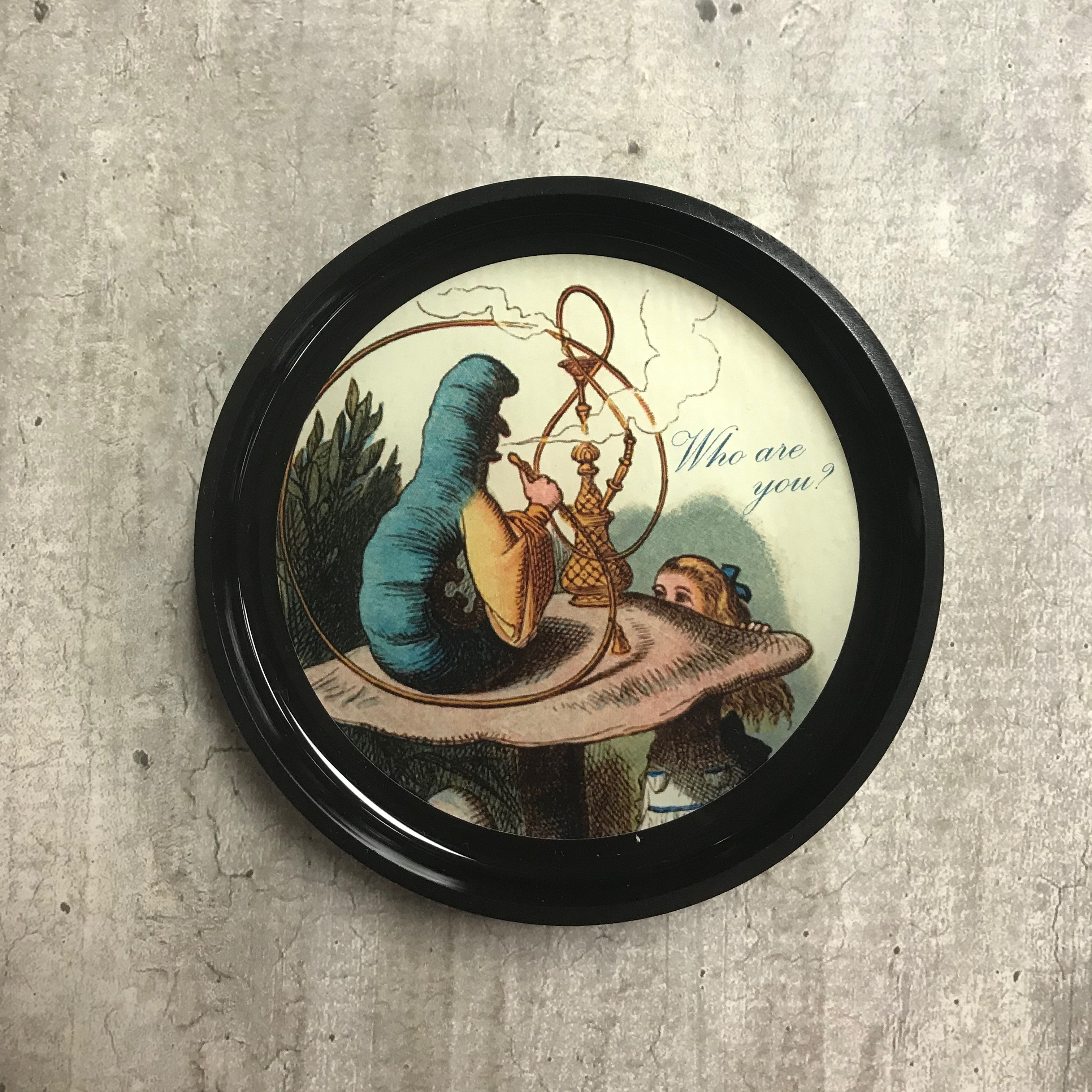 Alternative Image for the Round Black Tray, Alice in Wonderland Designs product