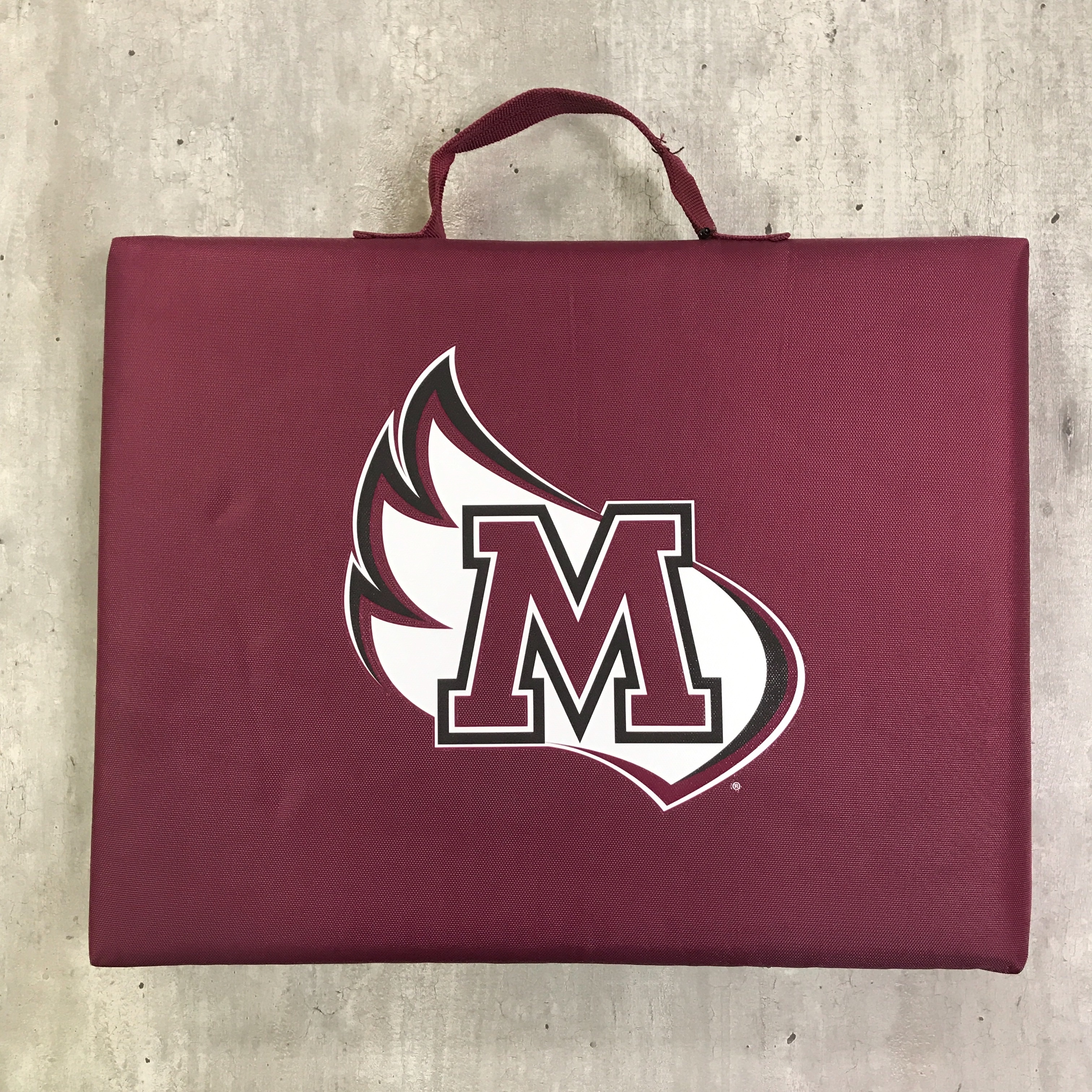 Image for the Bleacher Cushion Maroon Logo Brands product