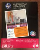 Image for the HP Ultra White Multipurpose Copy Paper, 8.5x11, 20lb, 500 Sheets, 112000, 010720388 product