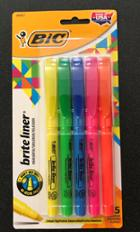 Image for the Bic Brite Liner Highlighter 5 Color Pack product