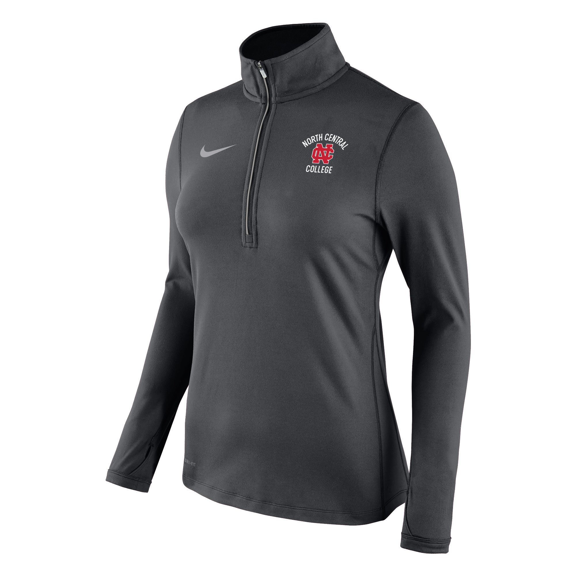 Alternative Image for the North Central College Women's Tailgate Element 1/2 Zip by Nike - Clearance product