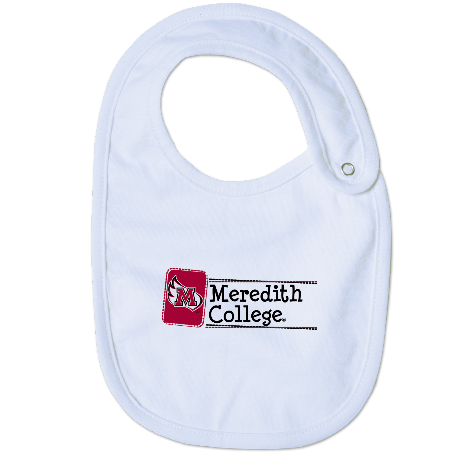 Image for the Bib with Meredith College and M wing w/snap product