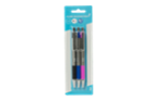 Image for the Ballpoint Pens, Retractable Classic, Black/Blue/Pink, 3/pk product