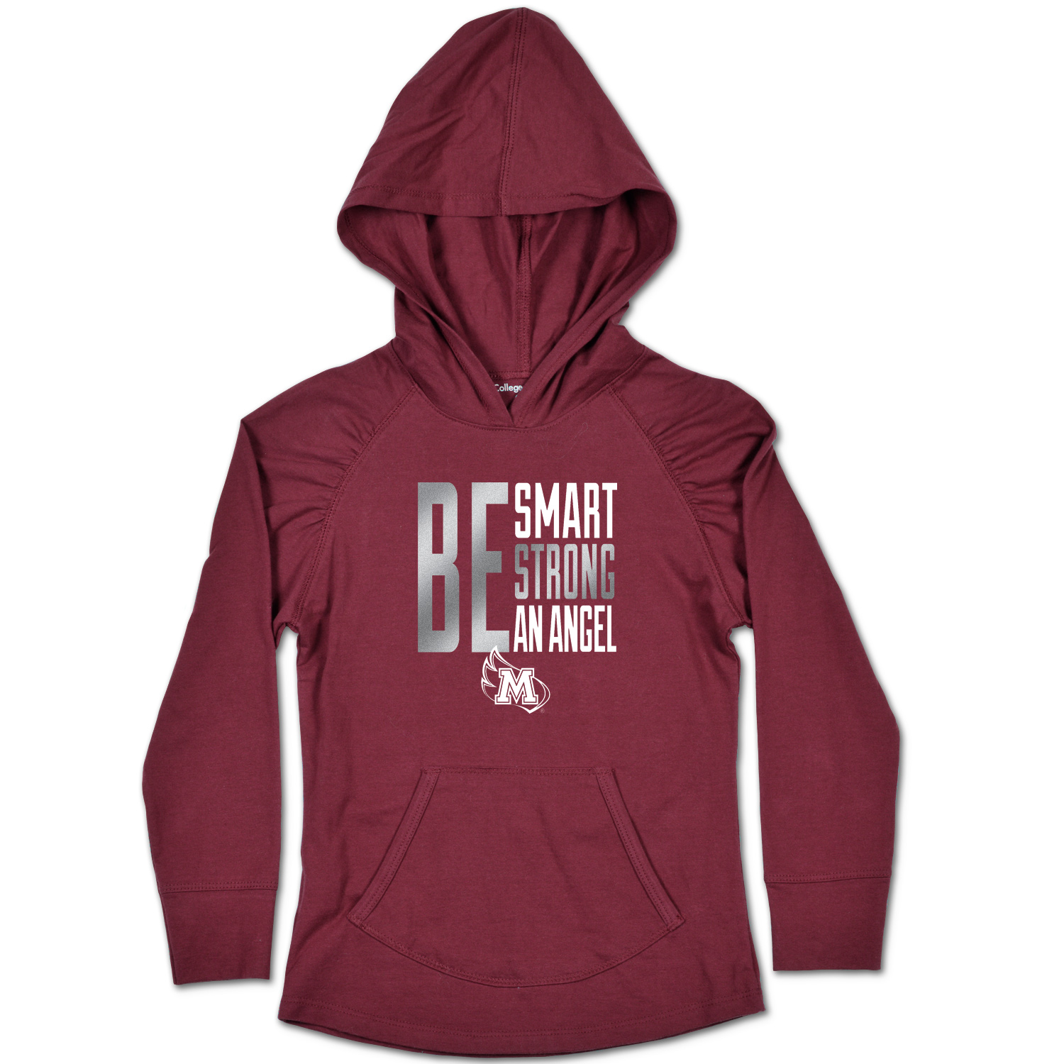 Image for the Youth August Hood Maroon Be Smart Be Strong Be an Angel College Kids product