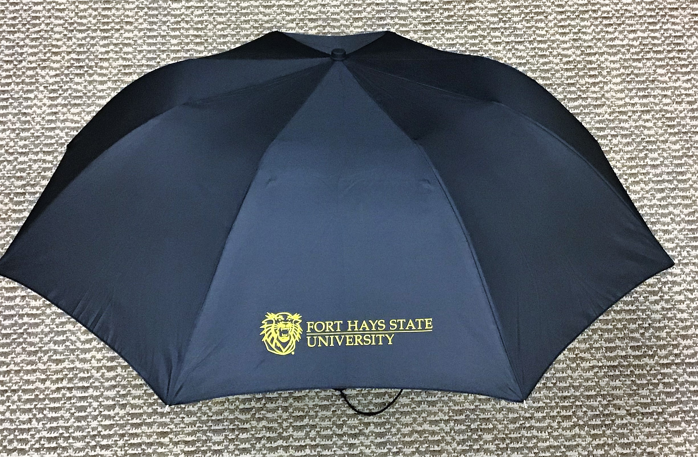 Image for the Deluxe Black Folding Umbrella with Mascot product
