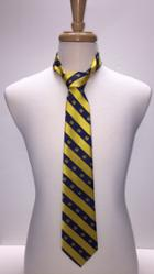 Image for the Tie, Navy and Gold Stripe w/ CU logo product