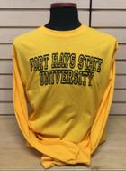 Image for the T-Shirt Long Sleeve in Gold or Gray FHSU MV Sport product