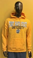Image for the Hoodie Powerblend Sweatshirt in Black or Gold FHSU Tiger Champion product