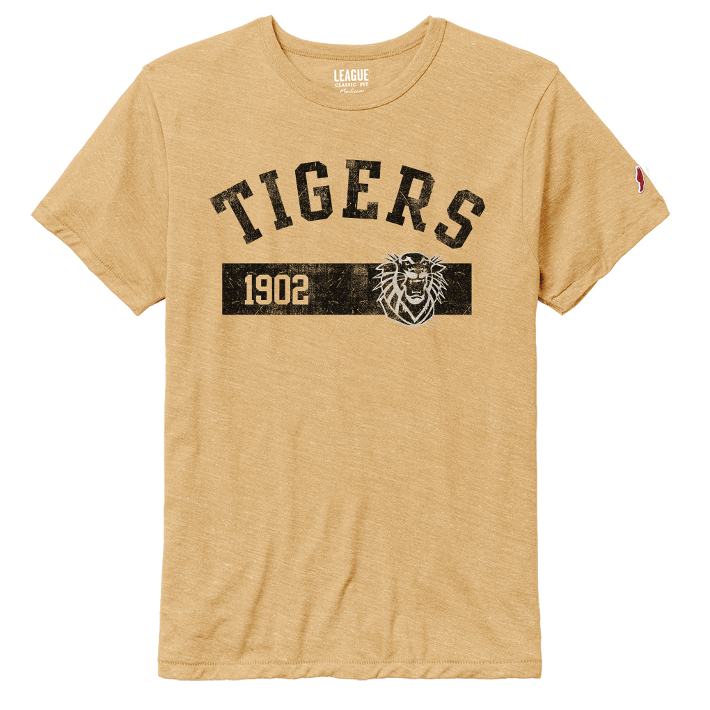 Image for the Men's SS Gold Tri-Blend T-Shirt Tigers 1902, League product