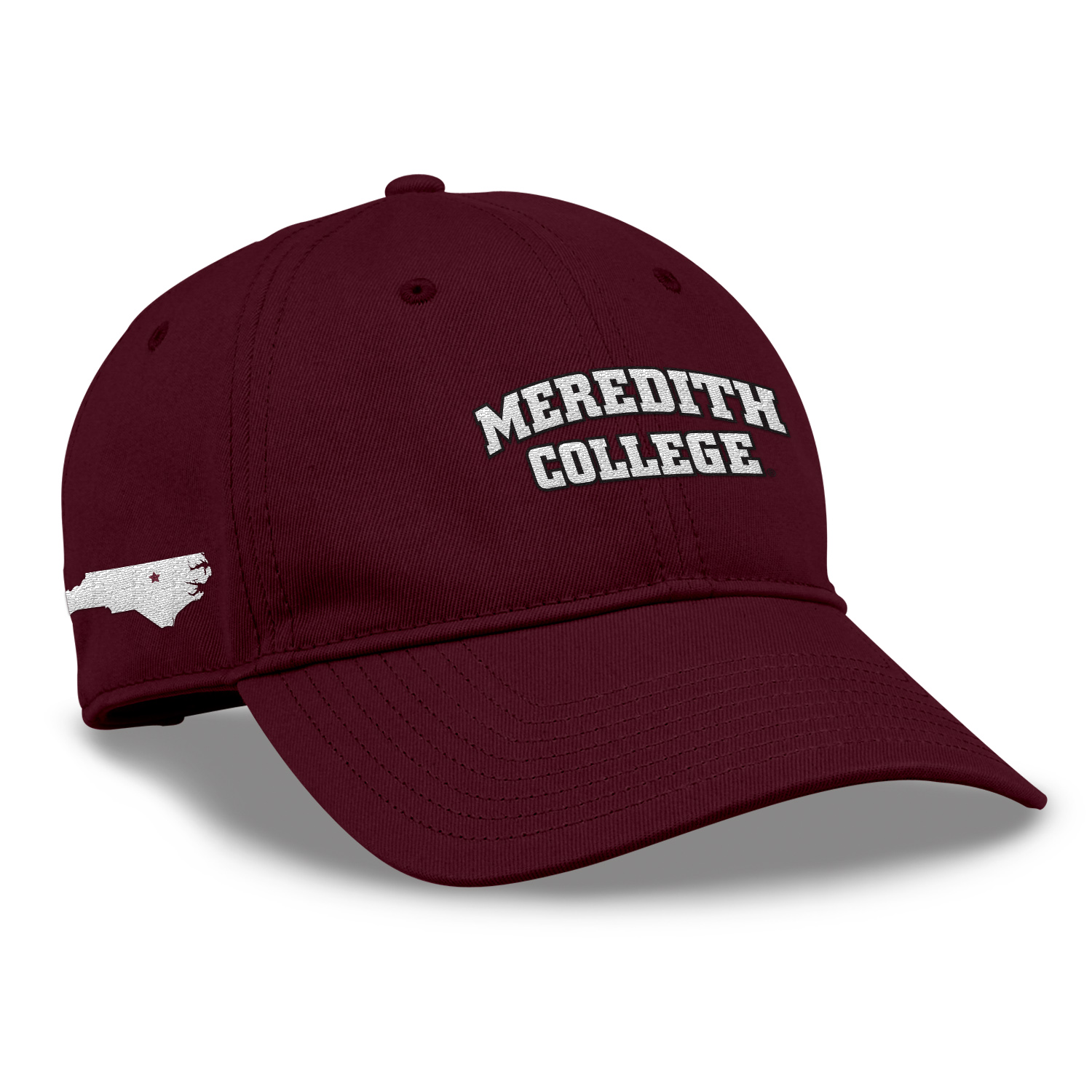 Image for the Garment Washed Maroon Twill Hat 2-loc product