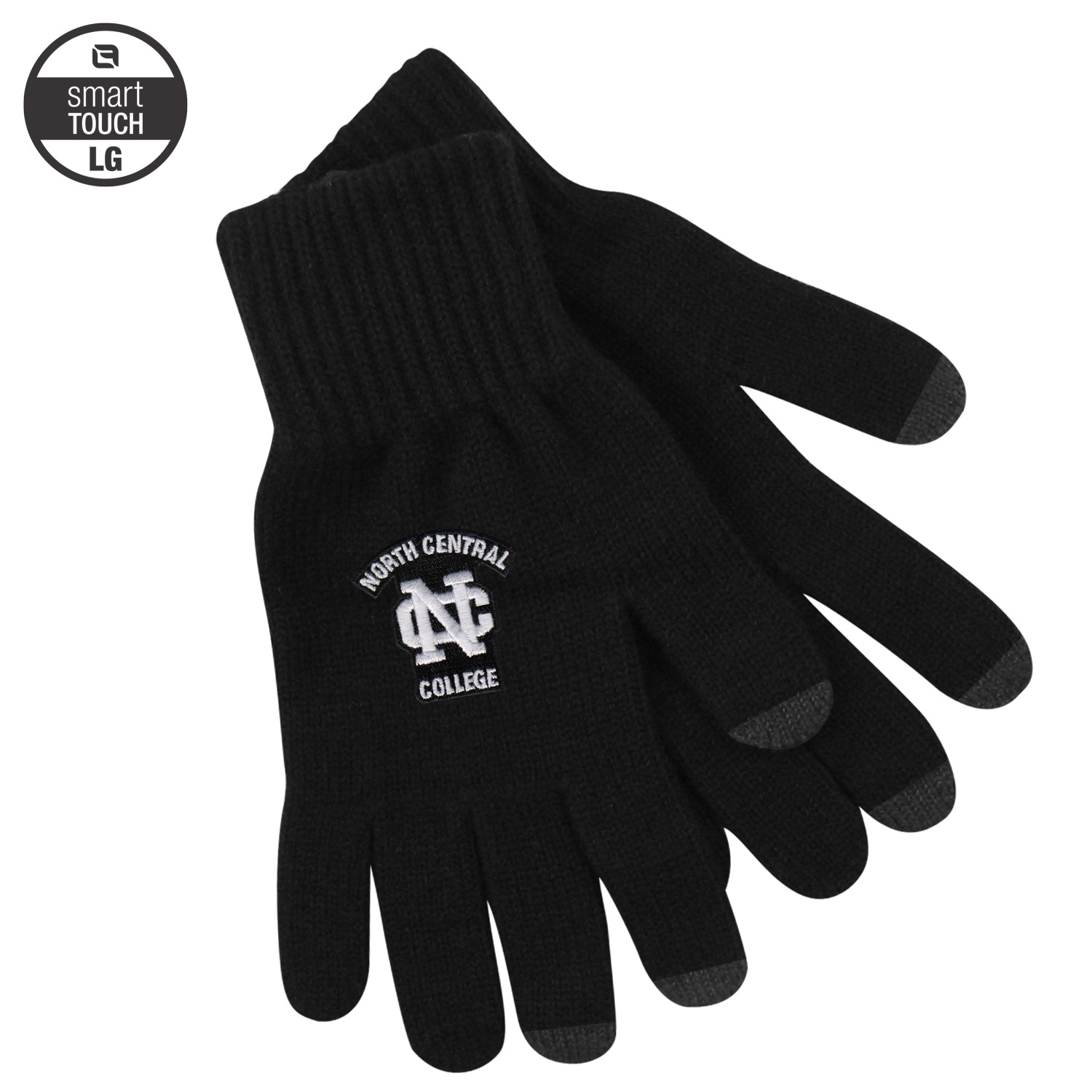 Image for the Black 'uText' Deluxe Knit Texting Glove(Large) product