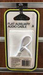 Image for the Flat Auxiliary Audio Cable, 3.3ft, White, iEssentials, IE-AUX-WT, 014967281 product