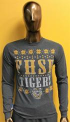 Image for the LS T-Shirt Charcoal Ugly Holiday Sweater product