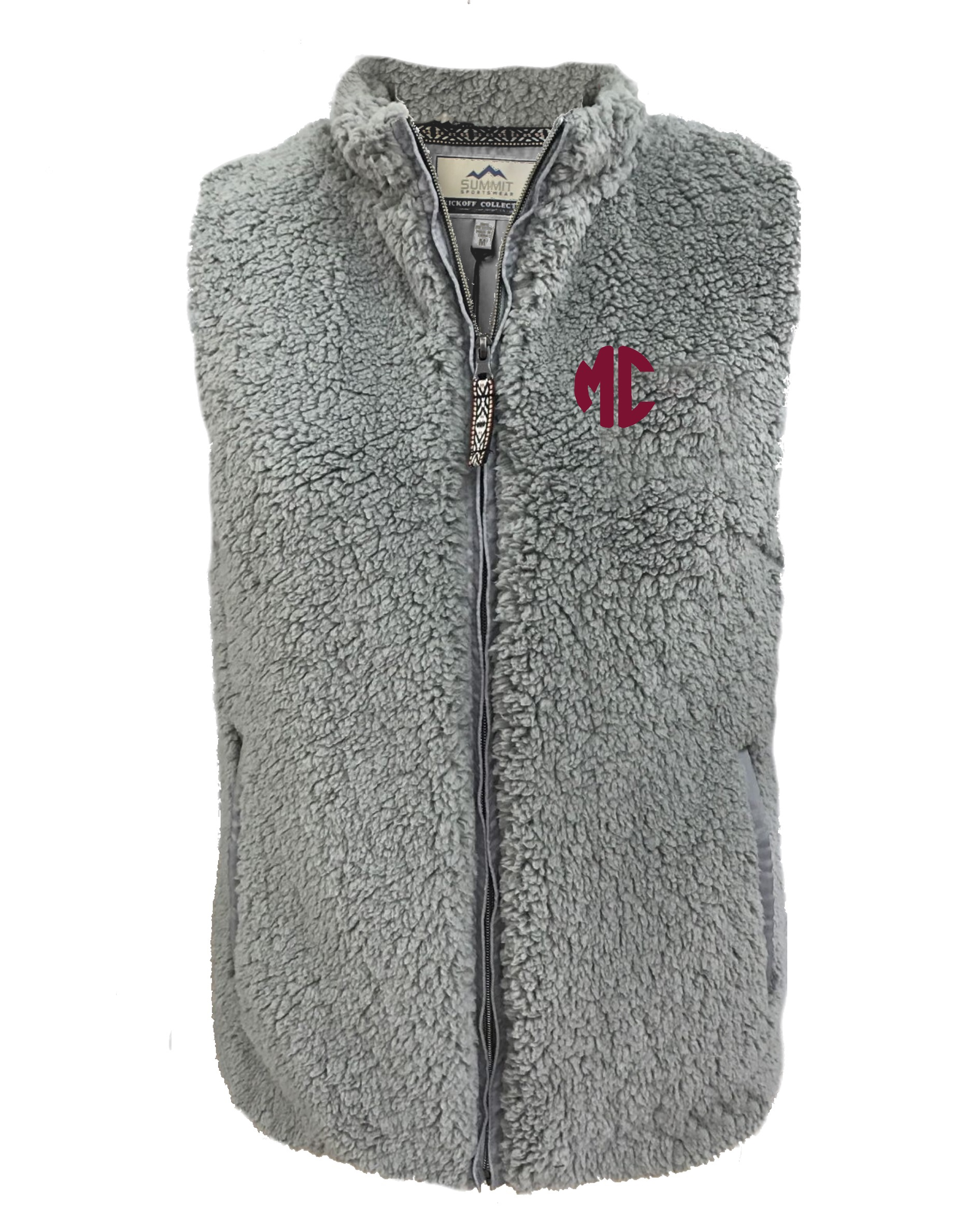 Image for the Sherpa Vest Charcoal MC Summit Sportswear product