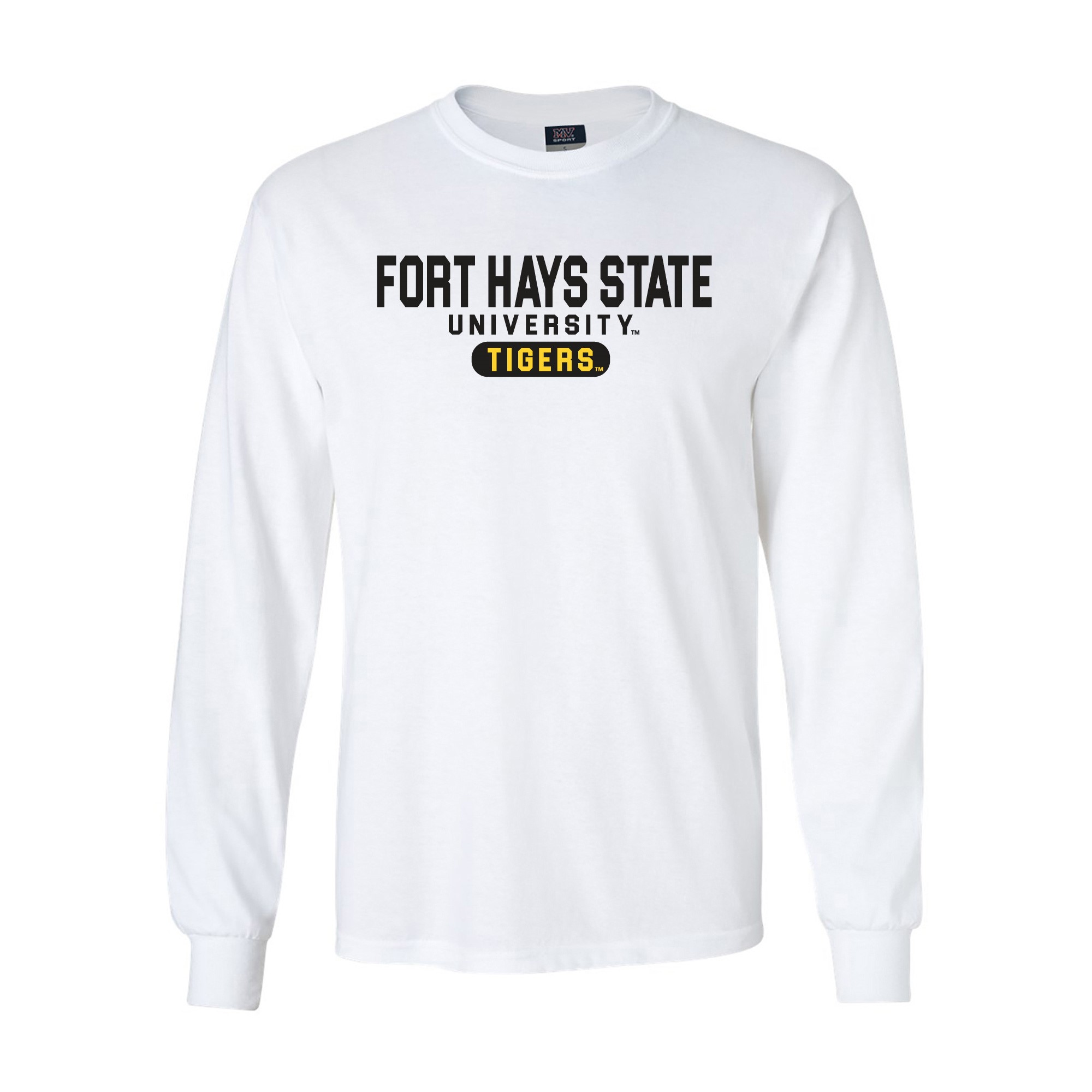 Image for the FHSU Tigers Classic Long Sleeve Tee, White, MV Sport product