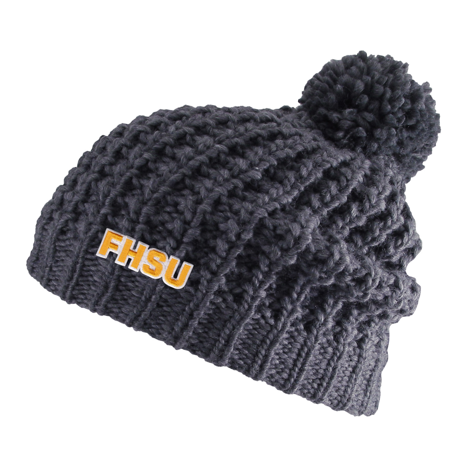 Image for the Knit Chunky Hat with Pom product
