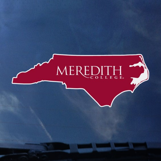 Image for the Decal, State Outline Meredith College product