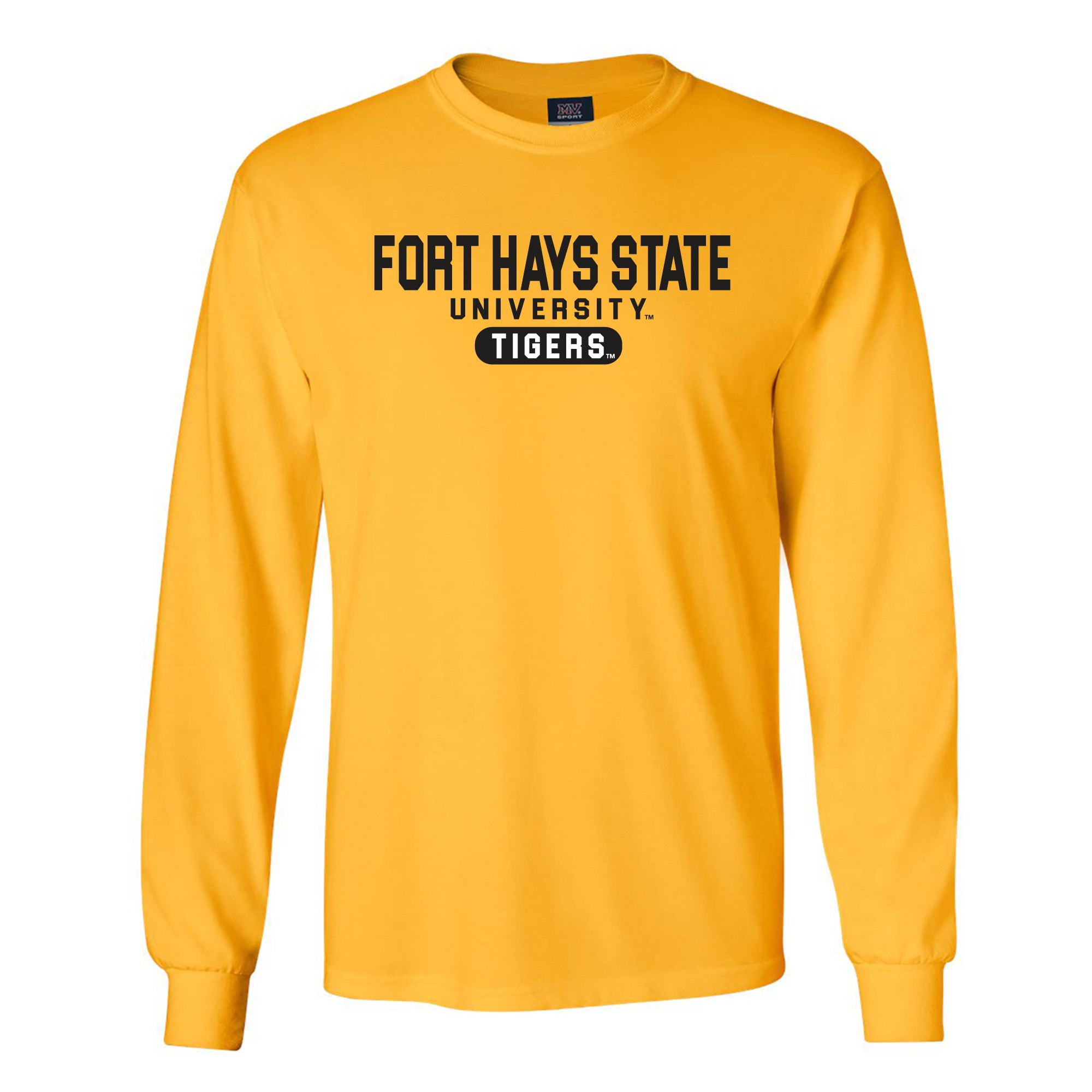 Image for the FHSU Tigers Classic Long Sleeve Tee, Athletic Gold, MV Sport product