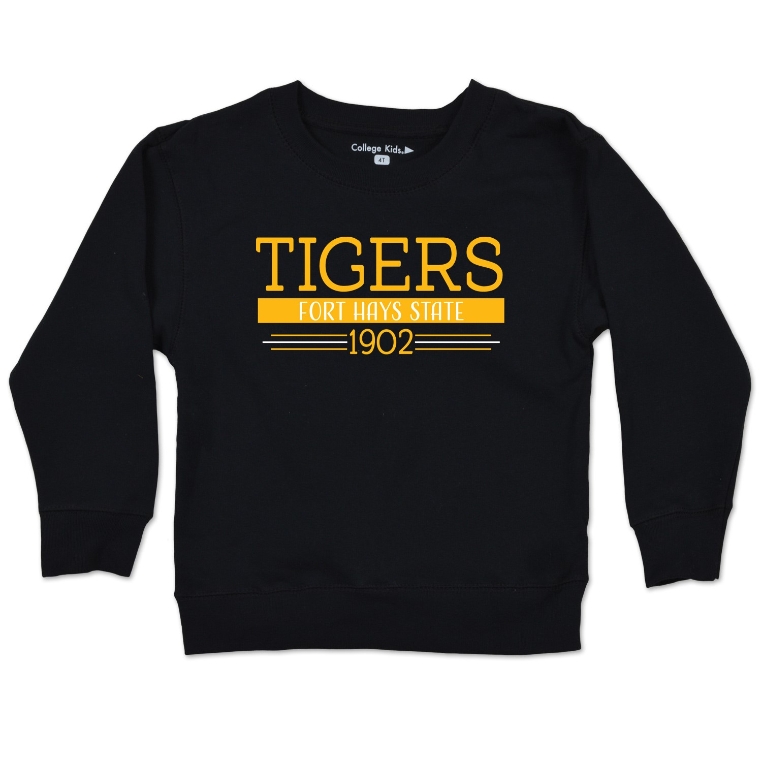 Image for the Tigers Fort Hays State 1902 Toddler Crewneck Sweater, Black, College Kids product
