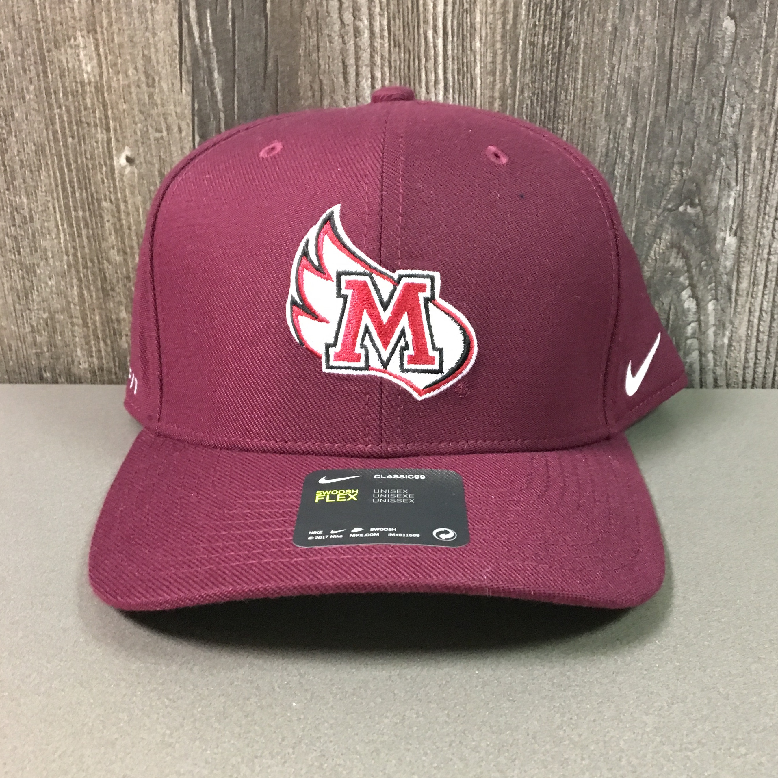 Alternative Image for the Nike Swoosh Flex Hat, Maroon, M-Wing product