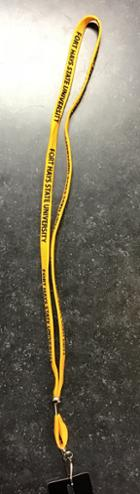 "Image for the Lanyard 3/8"" Printed Gold w/Black & Clip MCM product"