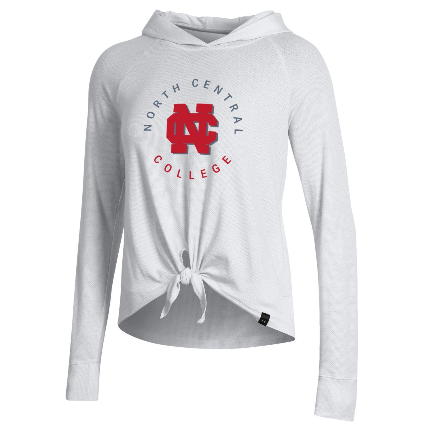 Alternative Image for the North Central College Women's Pinhole Tie Hood by Under Armour product