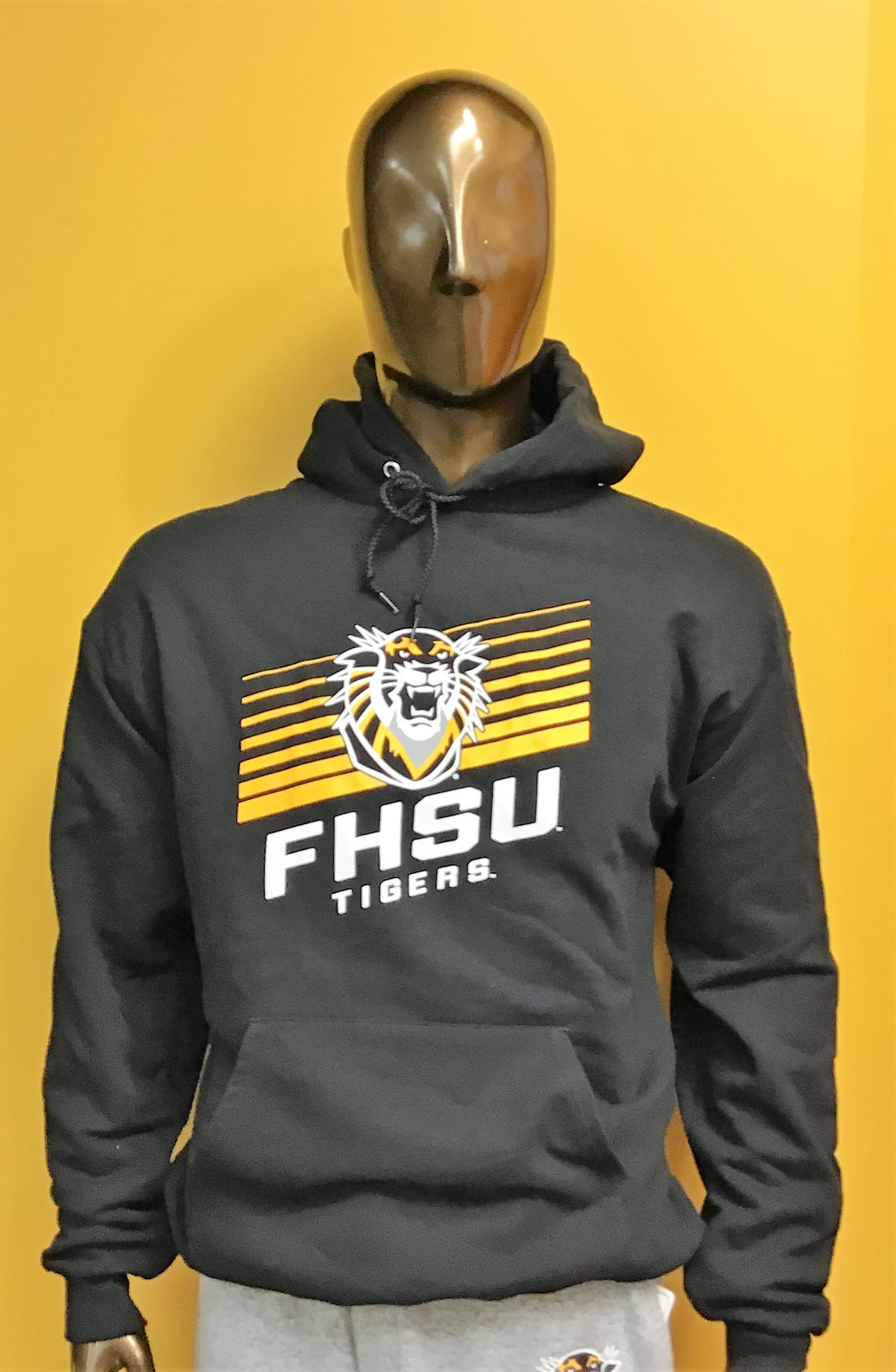 Image for the Hoodie Powerblend Sweatshirt in Black FHSU Tigers Champion product