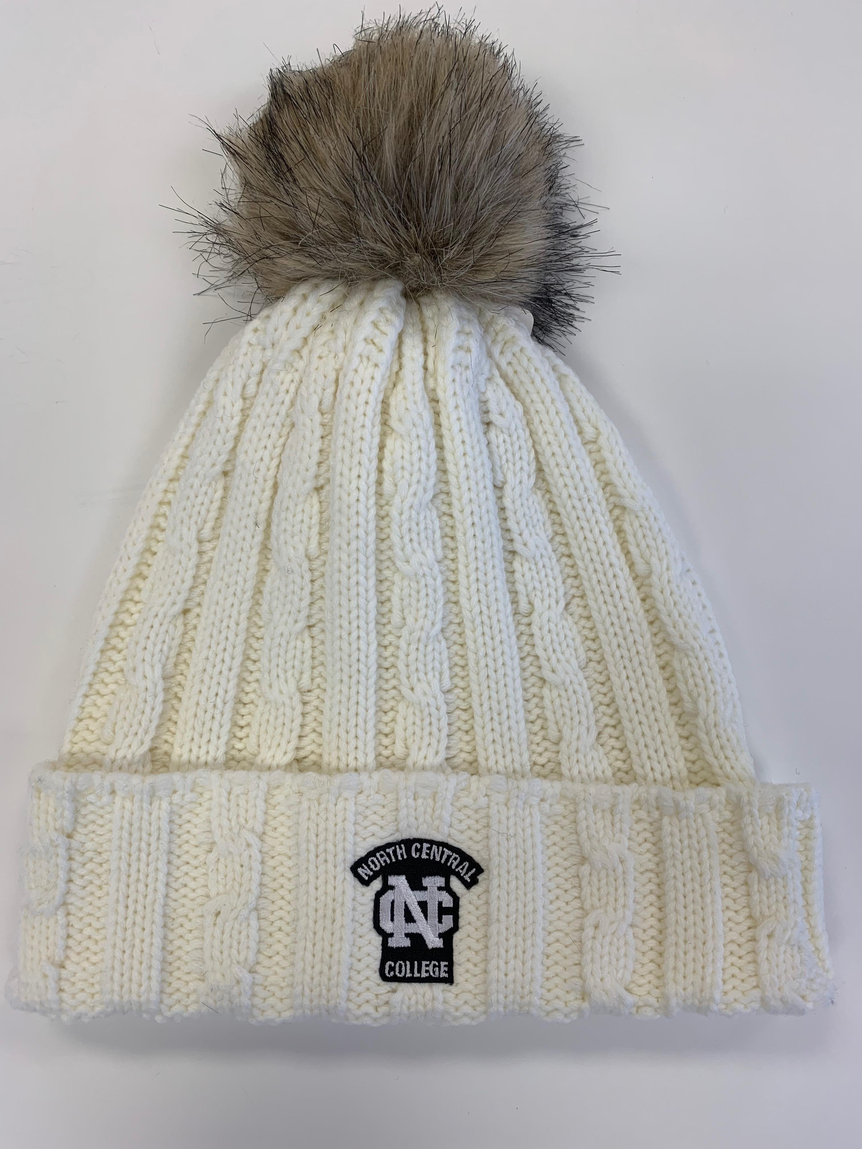 Image for the Alps Knit Cuff Hat w/Faux Fur Pom product