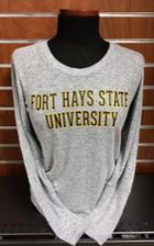 Image for the Reprise Gray Ladies' Knit Long Sleeve Top, Concept Sport, College Concepts product