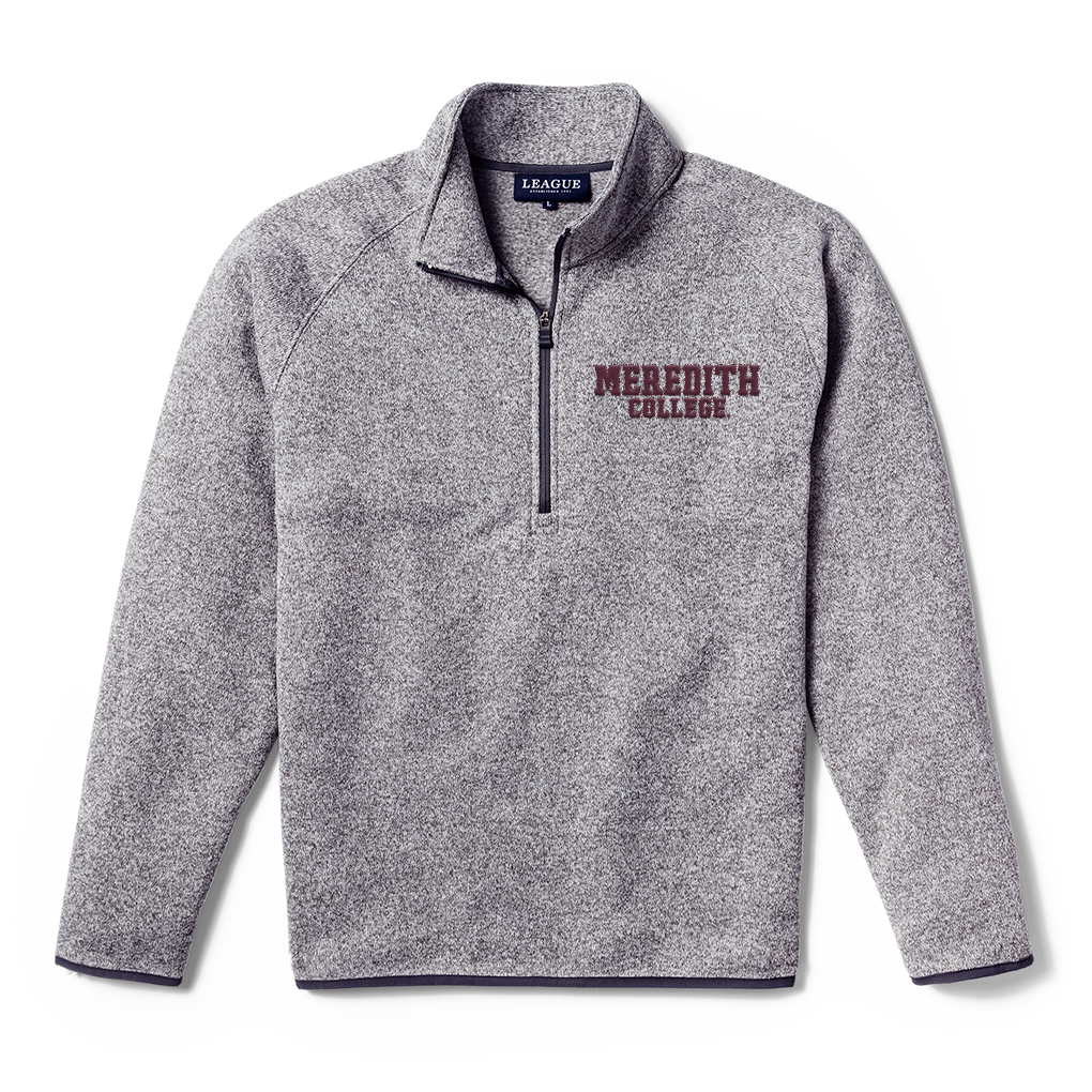 Image for the Saranac Quarter Zip in Grey, Meredith College Logo League product