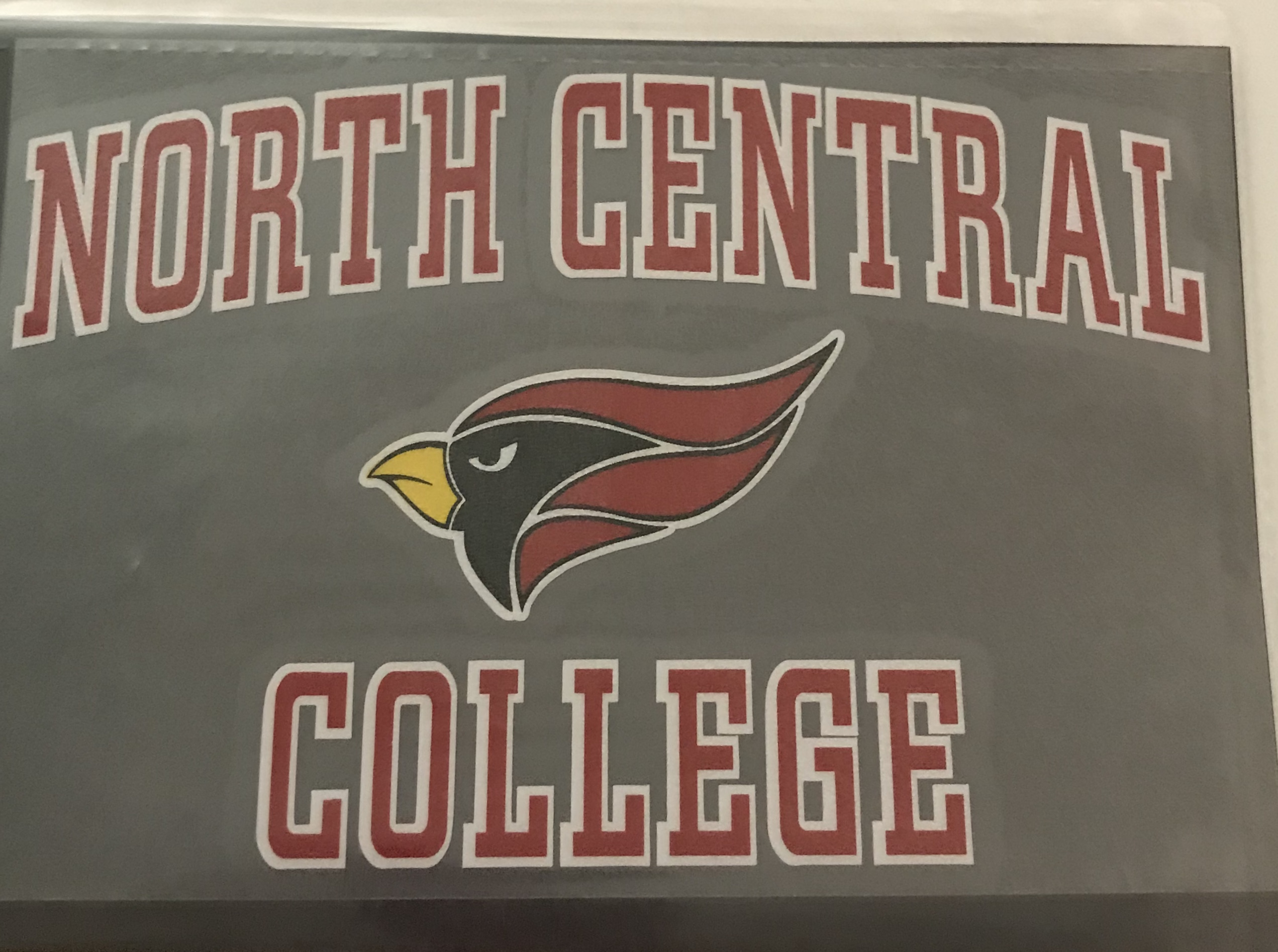 Image for the North Central College Decal w/ Cardinal Head(ColorShock) product