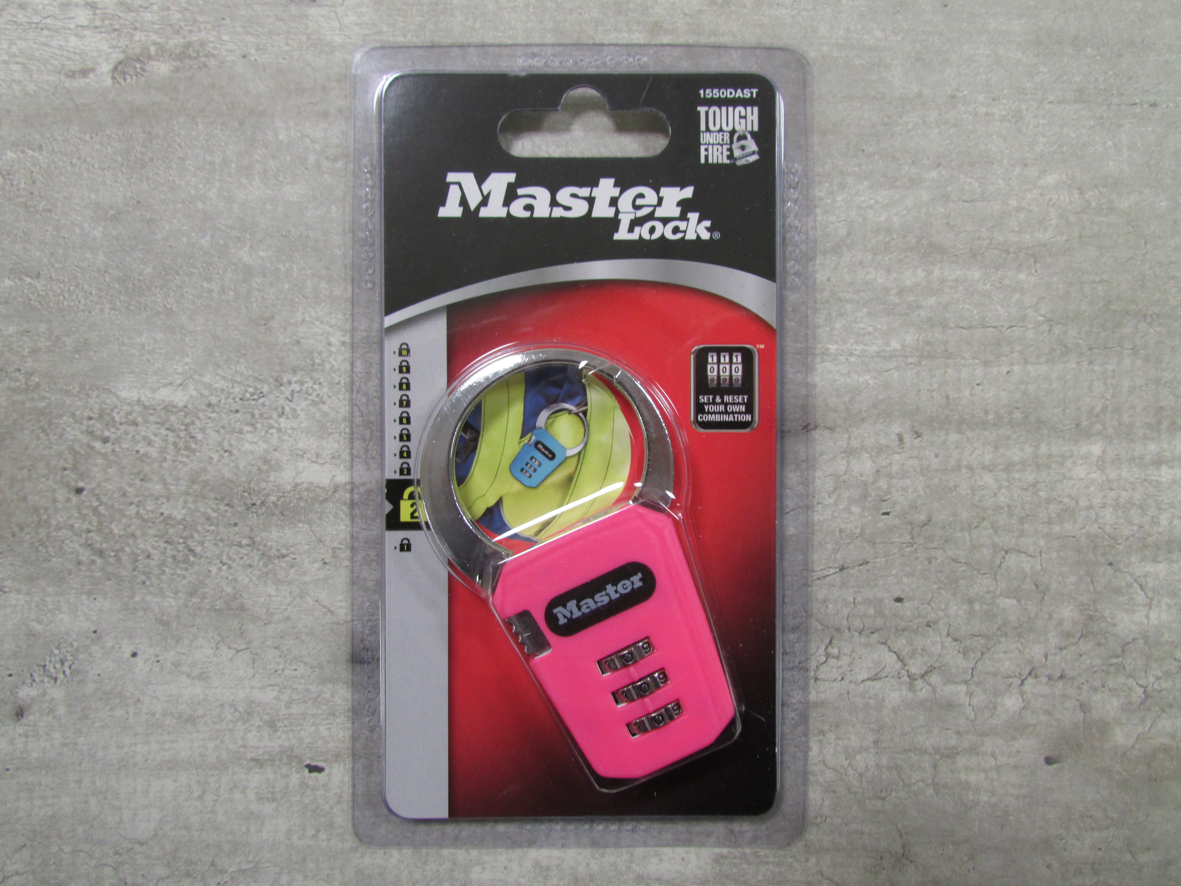 Image for the Backpack Lock, Master Lock, Set-Your-Own Combination, Resettable product