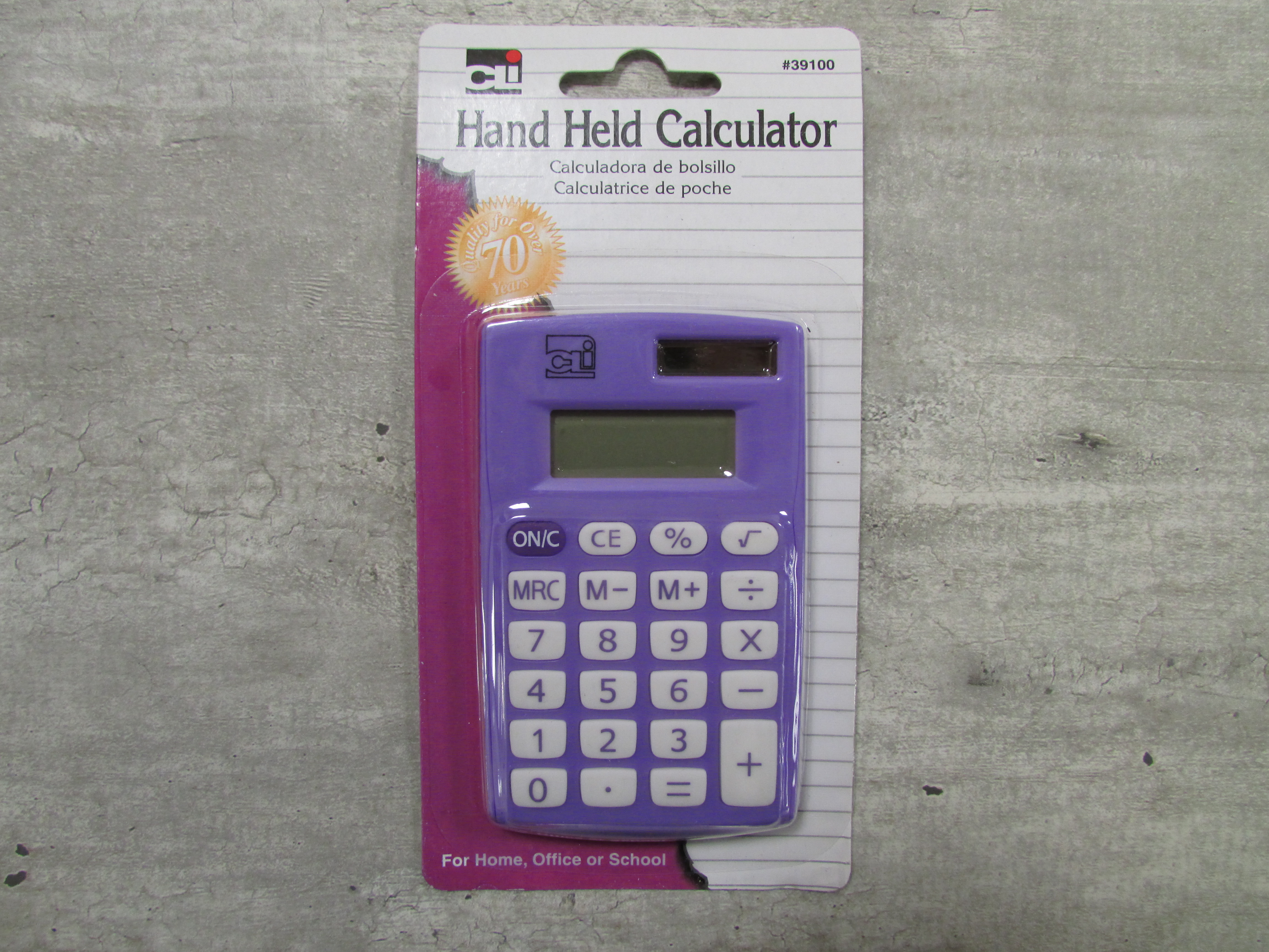 Image for the Calculator, 8-Digit Display, Dual Power, Asst. Colors product