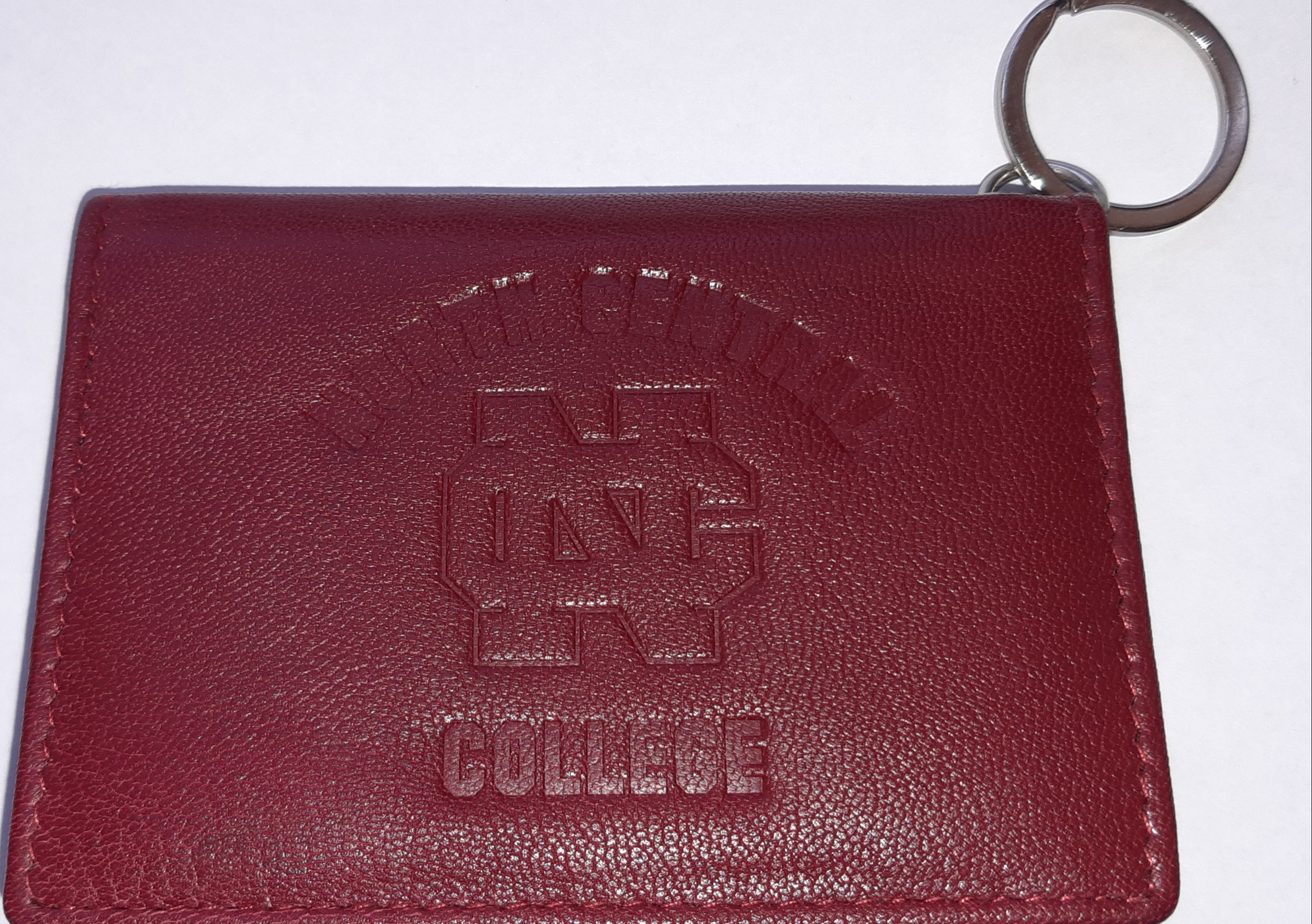 Alternative Image for the North Central College Red Leather Snap ID Holder/ wallet product