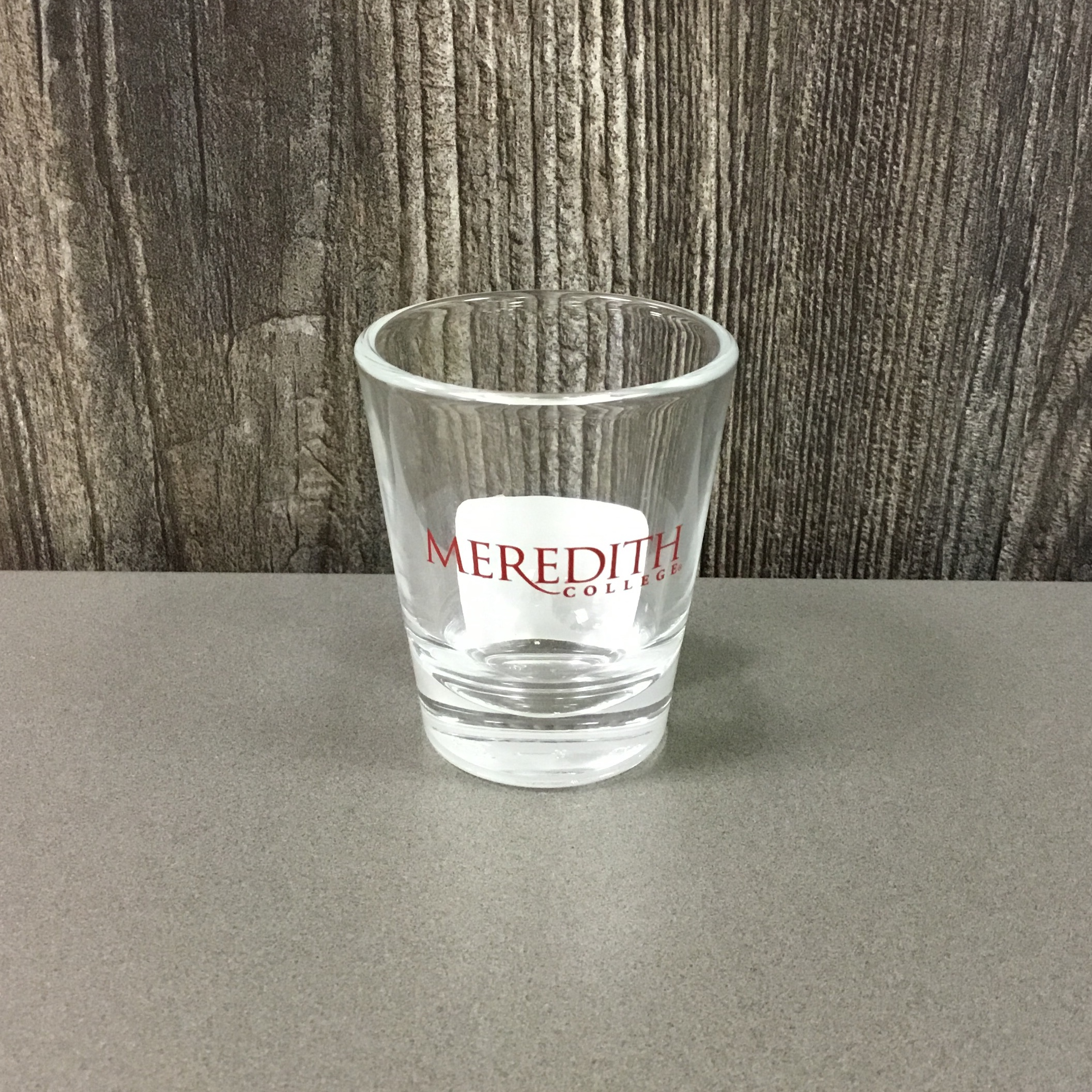 Image for the Tapered Shot Glass, Meredith College Logo product