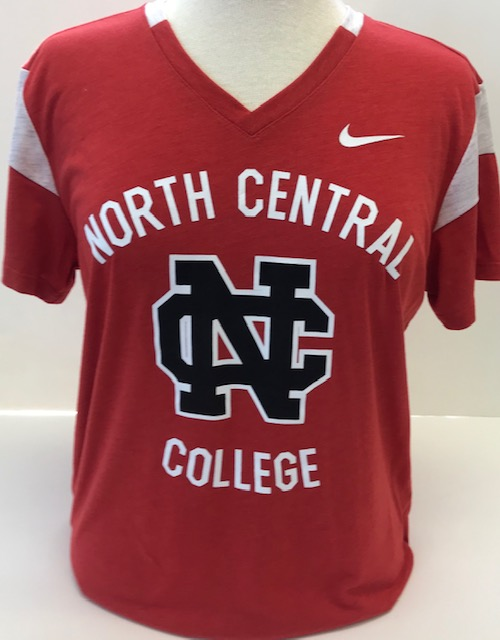 Alternative Image for the North Central College Short Sleeve Tee Fan Shirt V-Neck by Nike product