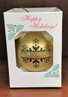 Image for the Ornament Shatter Proof Gold with FHSU MCM product