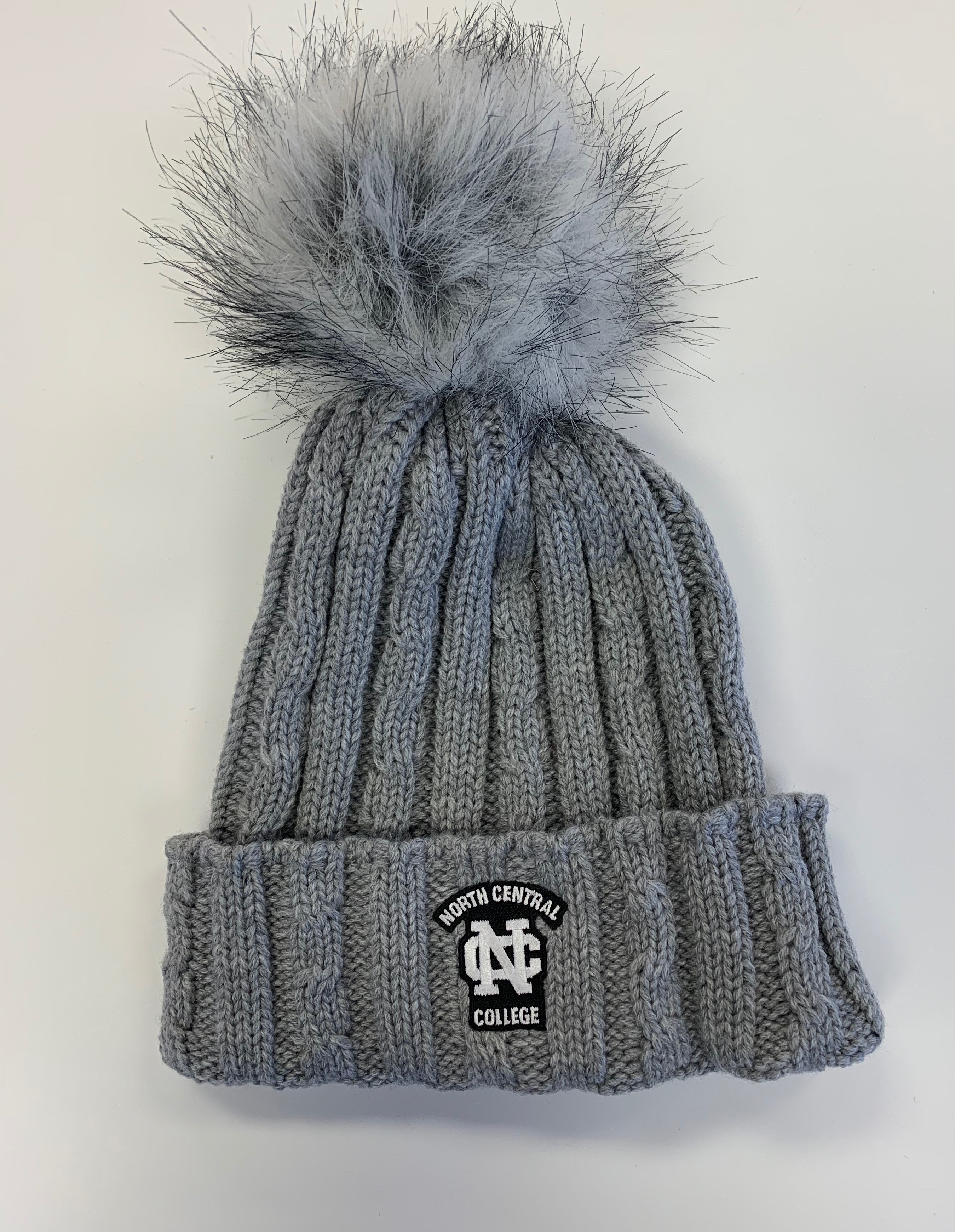 Alternative Image for the Alps Knit Cuff Hat w/Faux Fur Pom product