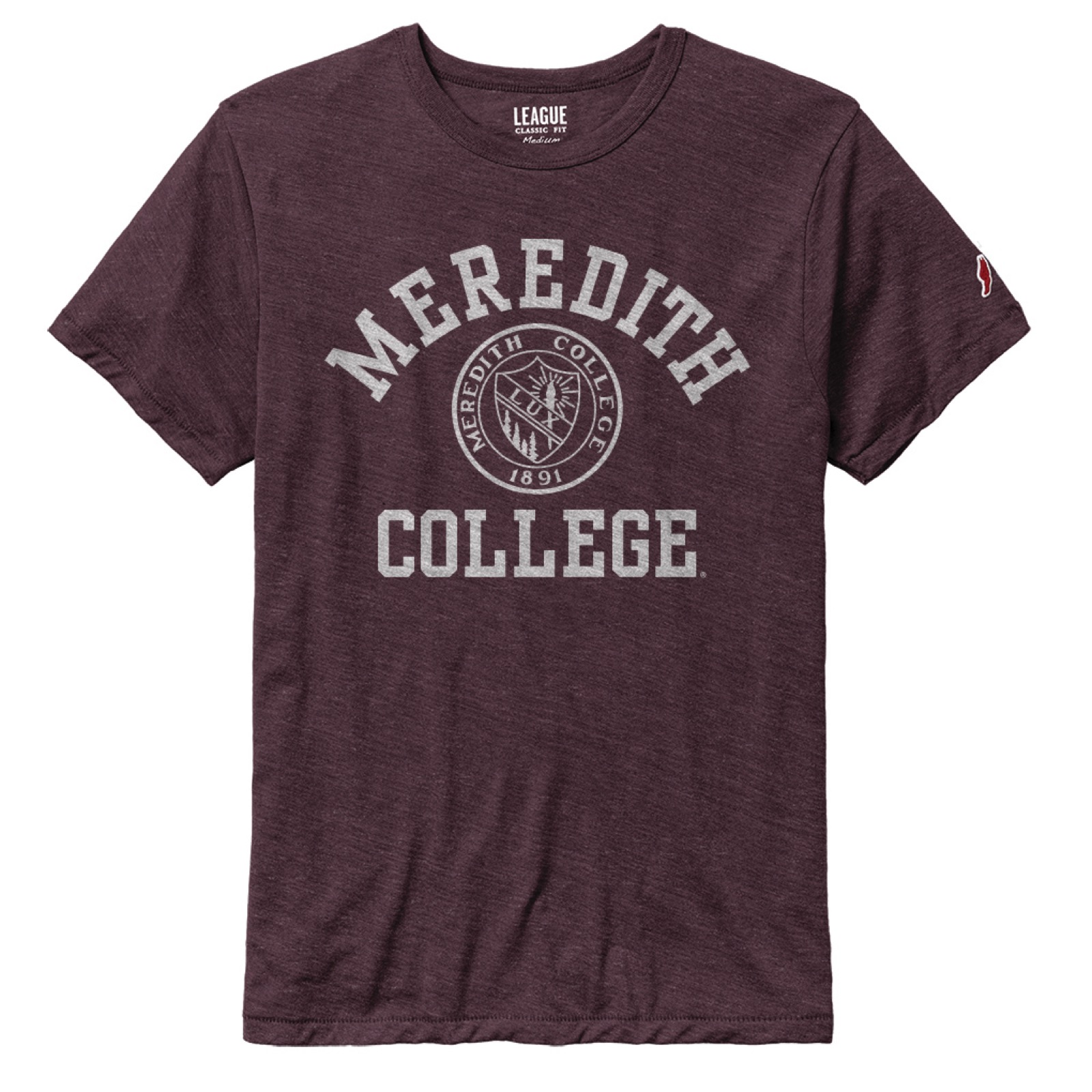 Image for the T-Shirt Varsity Heather Maroon League MC w/Seal product