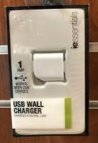 Image for the USB Wall Charger, 1 Amp, iEssentials, IEC-ACPUSB, 016598343, 016598340, 016598342, 016598341 product