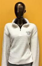 Image for the Quarter Zip Women's Sherpa Fleece Top Ivory MV Sport product