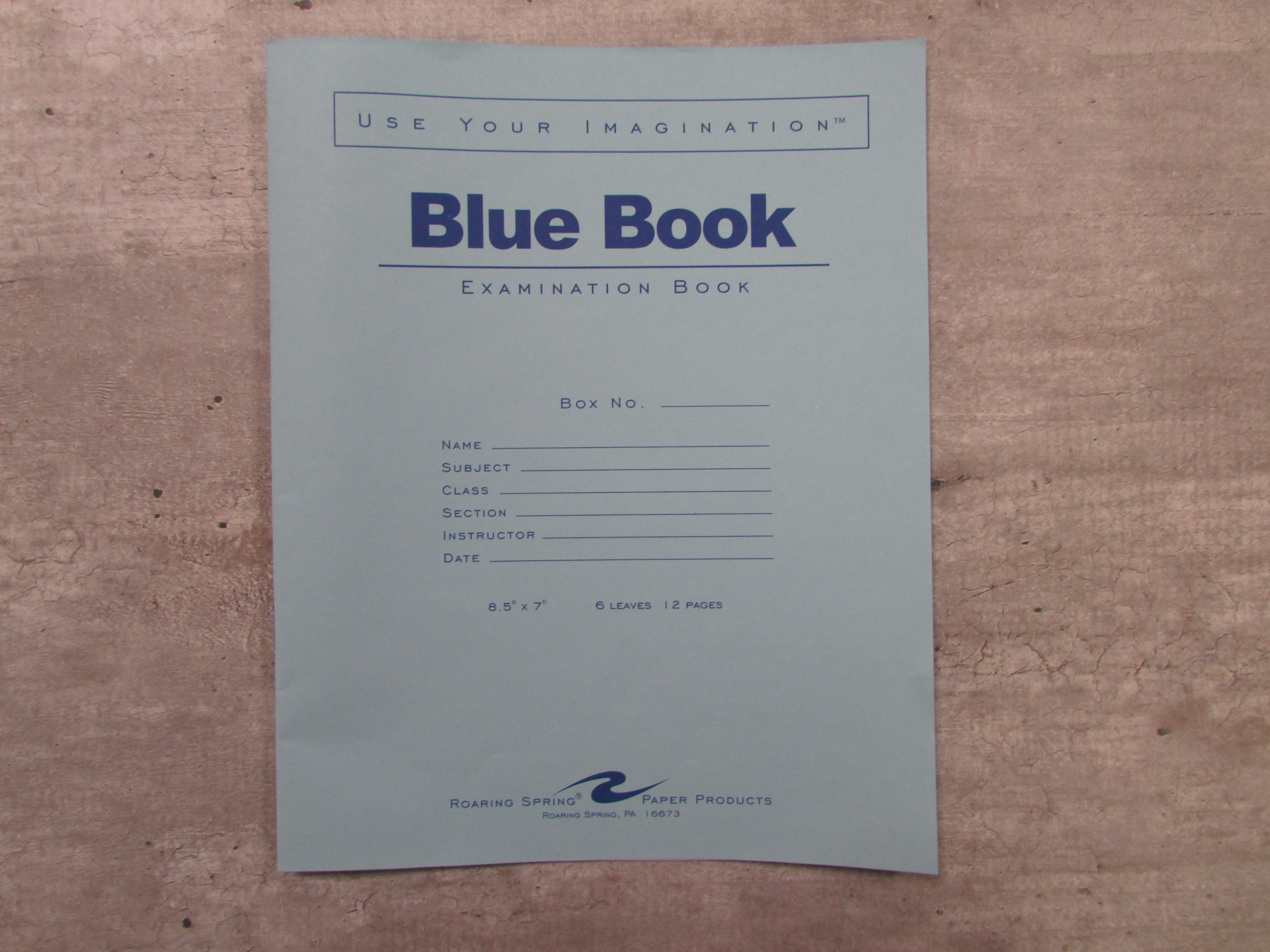 Image for the Blue Book, Small product