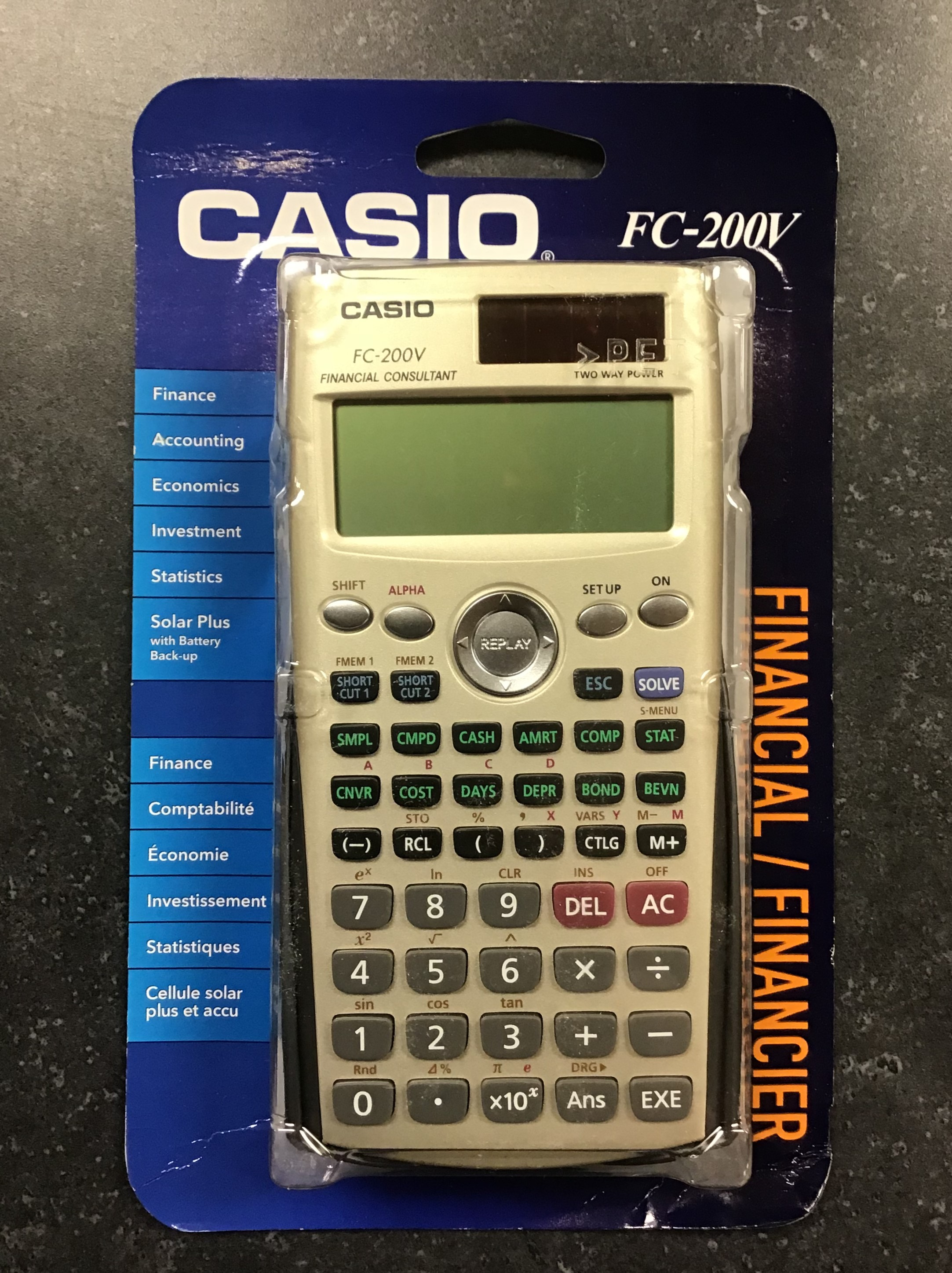 Image for the Casio FC200V Business/Financial Calculator product