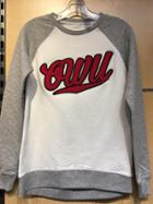 Image for the Quilted Crew Grey and White Long Sleeve product